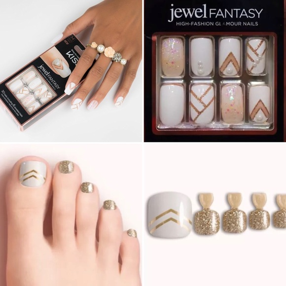 Kiss Other | Jewel Fantasy Dashing Diva Finger Toe Nails | Poshmark